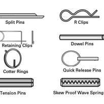Stainless Split Pins, Skew Proof, Tension Pins & other Retainers