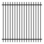Security Fencing | Hercules Steel Panel 2400 x 2400mm – Black