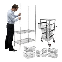Wire Storage Systems | Bins, Shelving & Trolleys