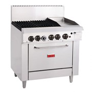 4 Burner Natural Gas Oven Range with Griddle Plate | GH102