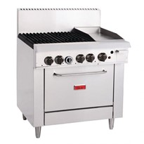 Thor 4 Burner Natural Gas Oven Range with Griddle Plate | GH102