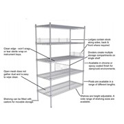 Hospital Shelving | Chrome Wire Shelving