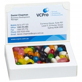 Bizcard Box with your choice of lollies