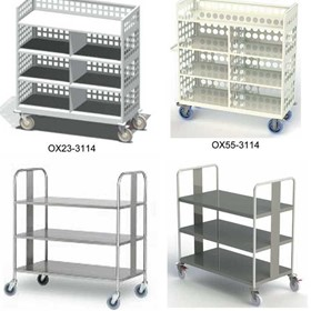 Oxford Clean Linen and Linen Storage Carts