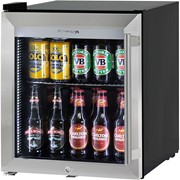 Tropical Rated Mini Glass Door Triple Glazed  Bar Fridge |HUS-SC50L-SS