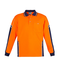 Hi-Vis Workwear I Syzmik Mens Squad Polo - Long Sleeve