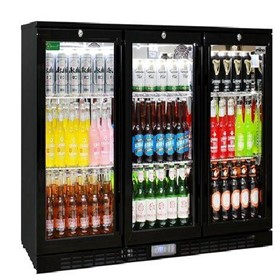 Commercial Glass 3 Door Under Bench Bar Fridge