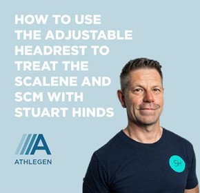 How to use the adjustable head rest to treat the Scalene and SCM with Stuart Hinds