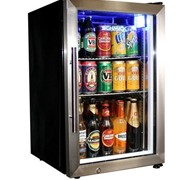 Schmick Tropical Glass Door Mini Bar Fridge EC68-SSH
