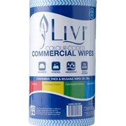 90 Sheet Blue Commercial Wipes | Livi® Essentials