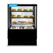 Square Glass Display Case Fridge | EVOK 150 Patisserie