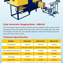 Animal Bedding Bagging Machine, Rice Husk Packing Machine - HBA-B60