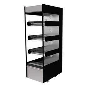 Flexeserve Zone 4 Tier Hot Grab & Go Floorstanding Unit