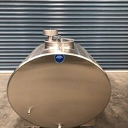 1,000L Insulated Food Grade Transportable Stainless Steel Tanker
