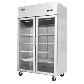 Atosa Top Mounted Double Door Freezer Showcase