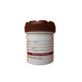Faeces Pathology Test Plastic Container 70ml, 500 Units/ Carton