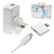 USB Mains Charger With Apple Approved Lightning