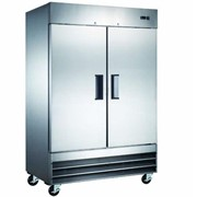 Stainless Steel Two Door Refrigerator | Mitchel Refrigeration