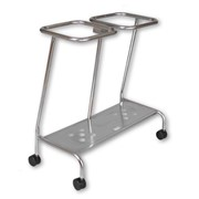 Soiled Linen Trolley | Double Open Hoop Stainless Steel SLT352SS
