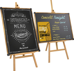 Display Easels & Artist Easels - Blackboard
