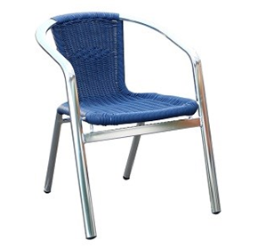 Blue Madrid Wicker Aluminium Indoor/Outdoor Armchair