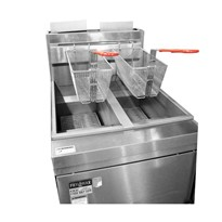 Superfast Natural Gas Tube Twin Vat Fryer – RC400TE
