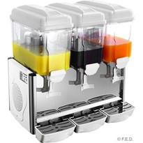 Triple 12L Paddle Action Drink Dispenser | KD-3X12P