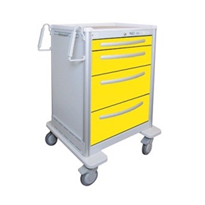 Light Aluminium Isolation Emergency Cart | Waterloo UTGKA-3699-YEL