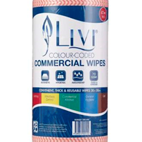 Red Commercial Wipes | Livi®