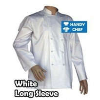 Handy Chef | Traditional White Long Sleeve Chef Jackets