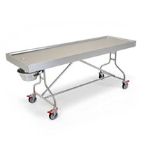 Fixed Tray Trolley | Mobile Autopsy Table
