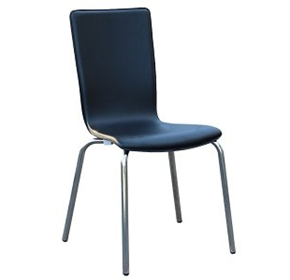 Avoca PVC Black | Stackable Indoor Dining Chair