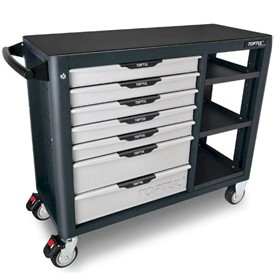 Workbench I 7 Drawer Pro-Plus Mobile Workbench - Grey