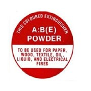 Identification Sign AB-E Dry Powder