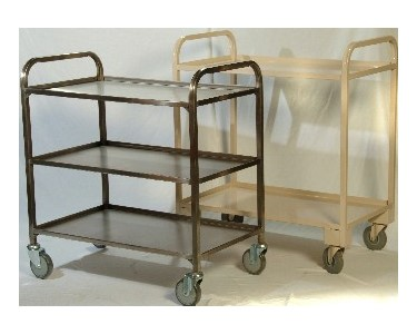 Cox Stainless Steel & Powdercoated Service Trolley
