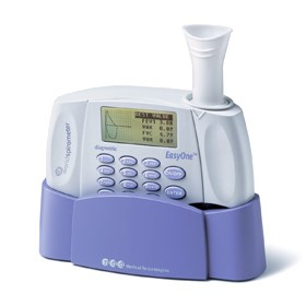 Spirometer with USB Cradle + HP Printer |  EasyOne