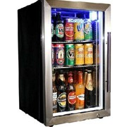 Tropical Glass Door Mini Bar Fridge / 72 Cans Left Hinged