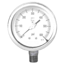 BIRKETT CONTROLS - All SS Pressure Gauge - Solid Front - AI