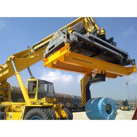 Reach Stacker Attachment | Multipurpose Frame with Lower Coil Handler