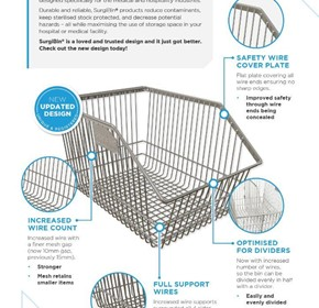 SURGIBIN® CHROME WIRE BASKETS JUST GOT BETTER