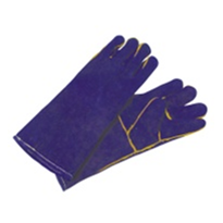 Blue Leather Welders Gloves