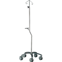 Pole Stand Transfusion Pump 5 Leg Base Stainless Steel