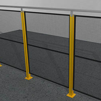 Modular Perimeter Safety Fencing: Posts, Panels & Panel Brackets