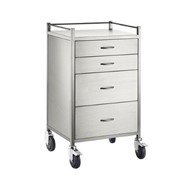 Anaesthesia Cart | S/S 4 Draw 60x50x97cm
