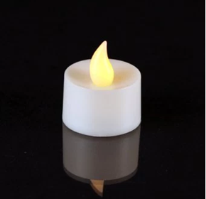 1 x High Quality Battery Operated Flameless Tea Light Candle | Amber