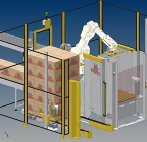 Compact Palletiser with Built-in Stretch Wrapper