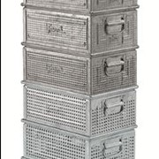 Metal Heat Galvanised perforated stacking container