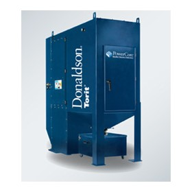 Compact dust collector for metalworking, welding, cutting, spraying