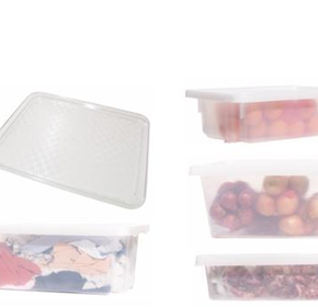 Okka Clear Crates and Trays from Durable Food Grade Polypropylene