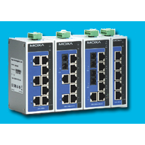 Industrial 5-Port or 8-Port Unmanaged Ethernet Switch - EDS-205A/208A Series